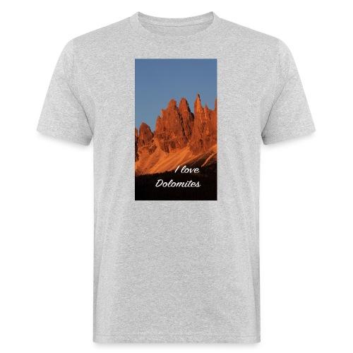 Abendglühen in König Laurins Rosengarten - Männer Bio-T-Shirt