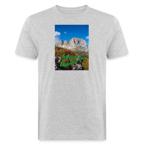 Ich liebe die Dolomiten - Männer Bio-T-Shirt