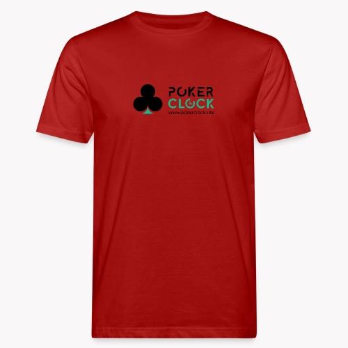 Poker Clock Logo - Männer Bio-T-Shirt