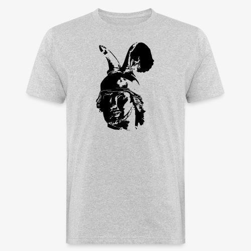 Kopf des Hermannsdenkmals - einfarbig, schlicht - Männer Bio-T-Shirt