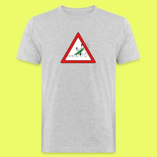 Kajak Unfall im Dreieck - Männer Bio-T-Shirt