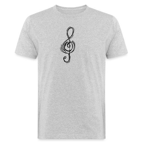 Violinschlüssel - Männer Bio-T-Shirt