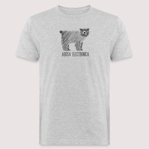Bär Schwarz - Männer Bio-T-Shirt