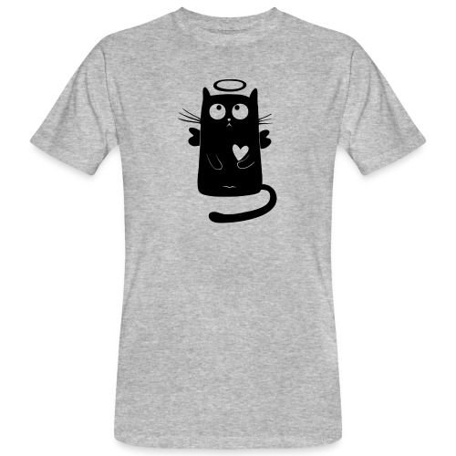 Katzengel - Männer Bio-T-Shirt
