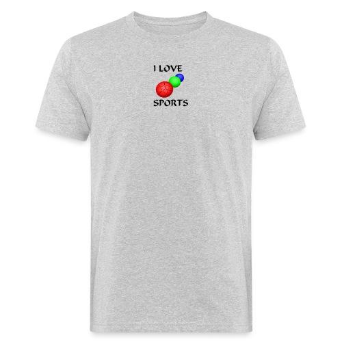 I LOVE SPORTS Amantes del deporte - Camiseta ecológica hombre
