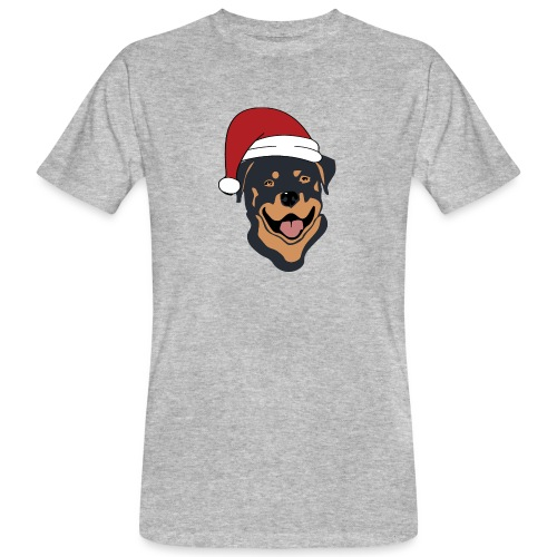 Weihnachtsmann Rottweiler - Männer Bio-T-Shirt