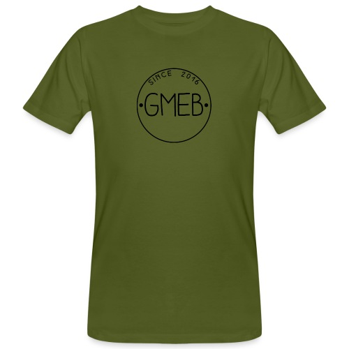 doorschijnend logo ZWART - Mannen Bio-T-shirt