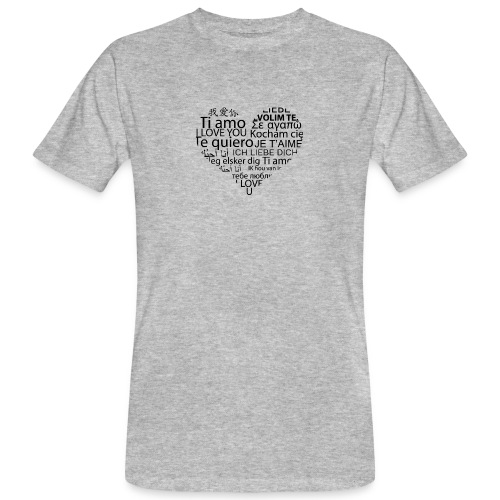 sticker je t aime en coeur ambiance sticker - Männer Bio-T-Shirt