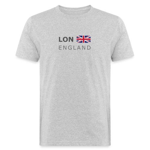 LON ENGLAND BF dark-lettered 400 dpi - Men's Organic T-Shirt