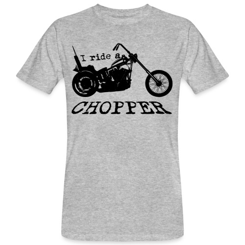 I ride a chopper - sort - Organic mænd