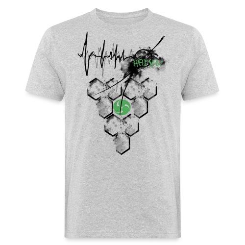 Raijin Hero-Heartbeat - Männer Bio-T-Shirt