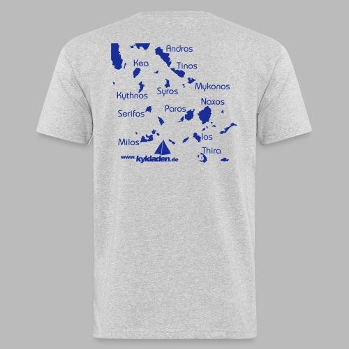 Kykladen Griechenland Crewshirt - Männer Bio-T-Shirt