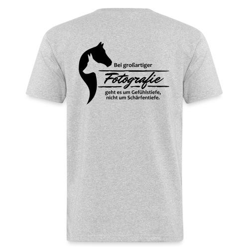 Gefühlstiefe vs. Schärfentiefe - Männer Bio-T-Shirt