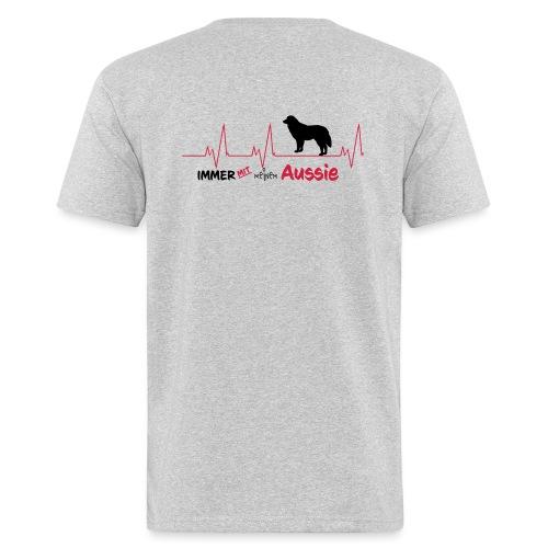Pulslinie Immer mit meinem Aussie - Männer Bio-T-Shirt