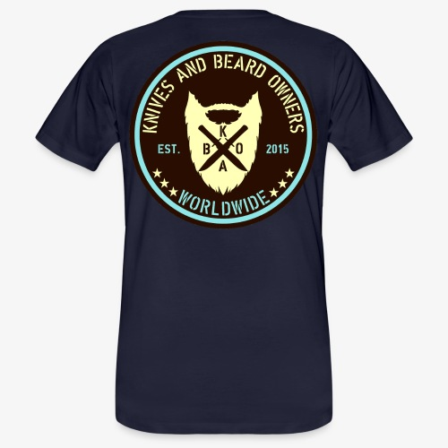 kabo logo braun blau - Männer Bio-T-Shirt