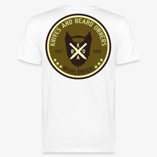 kabo logo gruen braun1 - Männer Bio-T-Shirt