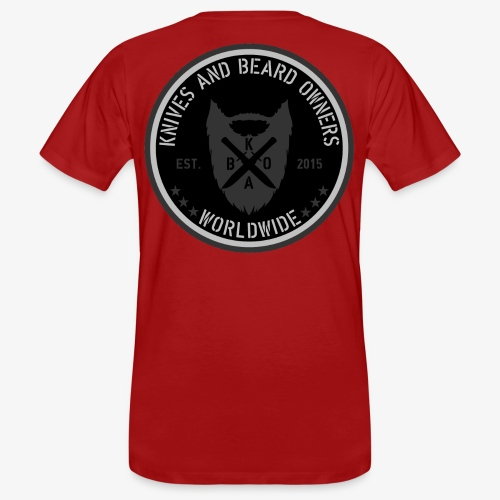 kabo logo schwarzgrau - Männer Bio-T-Shirt