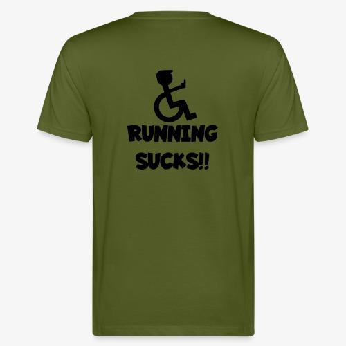 Rolstoel gebruikers haten rennen - Mannen Bio-T-shirt