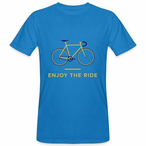 Enjoy The Ride Retro Cycling T-Shirt - Men's Organic T-Shirt