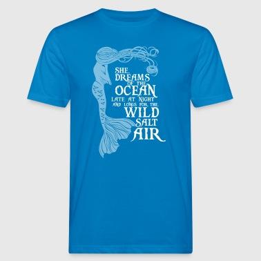 Hon drömmar om havet - Ekologisk T-shirt herr