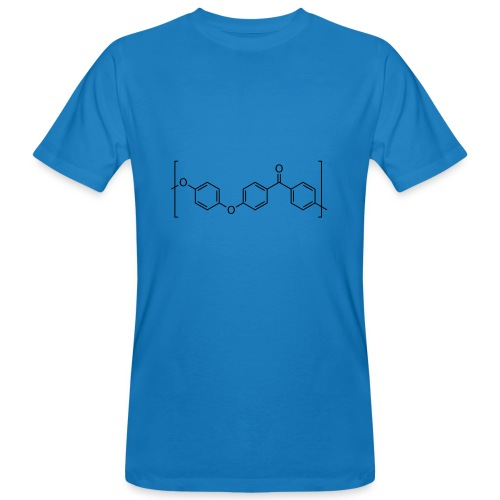 Polyetheretherketone (PEEK) molecule. - Men's Organic T-Shirt