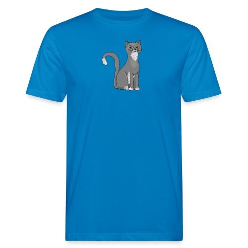 Grijze kat voor kattenliefhebber - Men's Organic T-Shirt