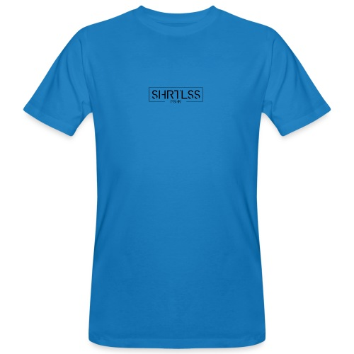 SHRTLSS Logoprint schwarz - Männer Bio-T-Shirt