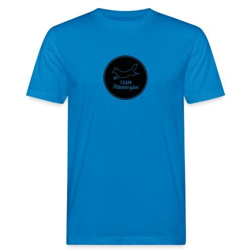 pilvimarjanlogomustaa - Miesten luonnonmukainen t-paita