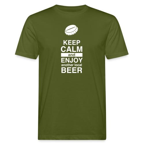Keep calm and enjoy local beer - Männer Bio-T-Shirt