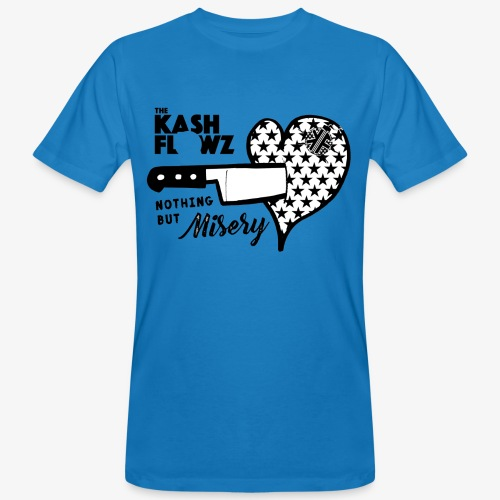 Nothing But Misery Knife Heart Black - T-shirt bio Homme