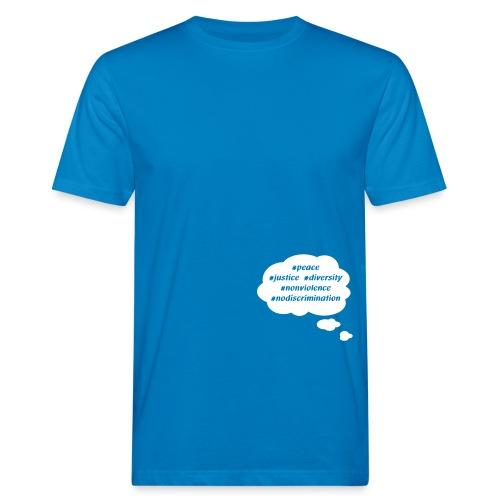 peace-justice_vereinfacht - Männer Bio-T-Shirt