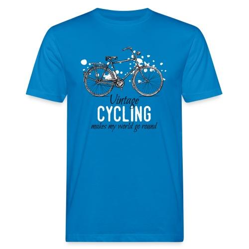 Vintage Bicycle Tuschezeichnung im Retro-Stil - Männer Bio-T-Shirt