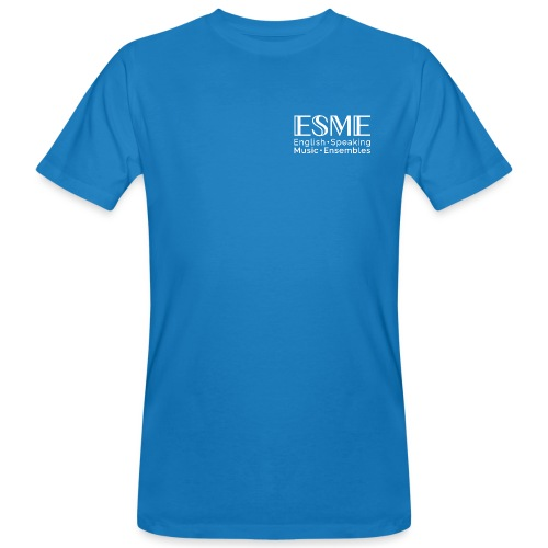 ESME Logo Weiss - Männer Bio-T-Shirt