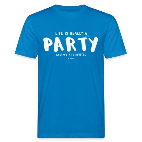 Party white - Ekologisk T-shirt herr