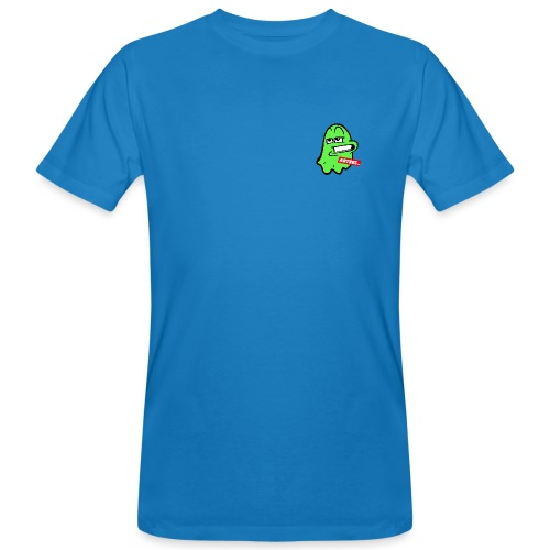 Artees GHOST Green SMALL LOGO - Männer Bio-T-Shirt