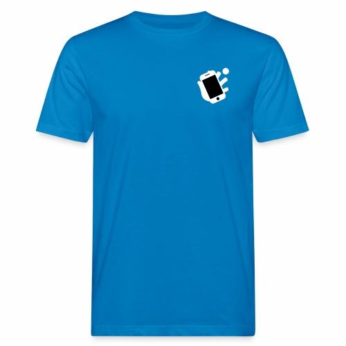 Smartphone-Tennis Logo Print - Männer Bio-T-Shirt