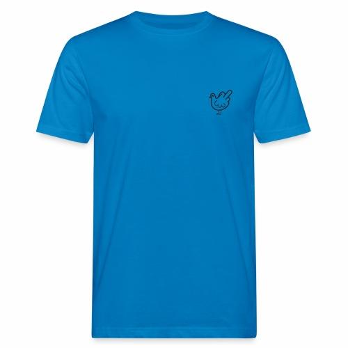 Huhn mit Mittelfinger - Männer Bio-T-Shirt