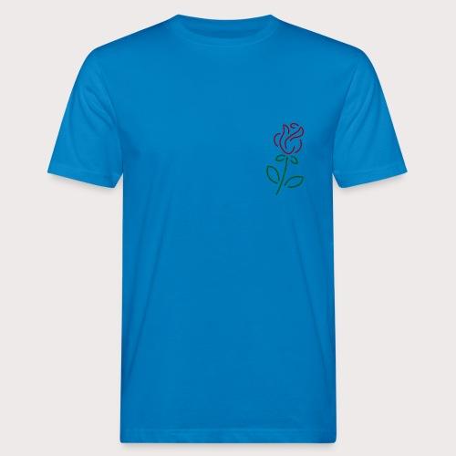 Rose Art - Männer Bio-T-Shirt