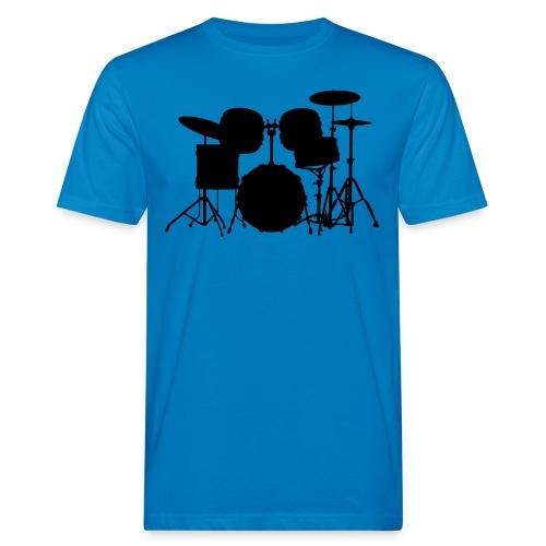 Drumset 1 Kontur schwarz - Männer Bio-T-Shirt