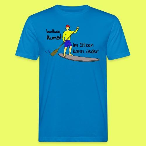 bootlose Kunst im Stehen - Männer Bio-T-Shirt