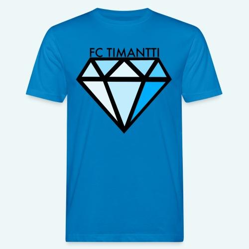 FC Timantti mustateksti - Miesten luonnonmukainen t-paita