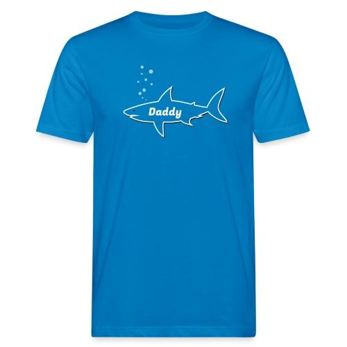 Daddy shark - matching outfit fathersday gift - Männer Bio-T-Shirt