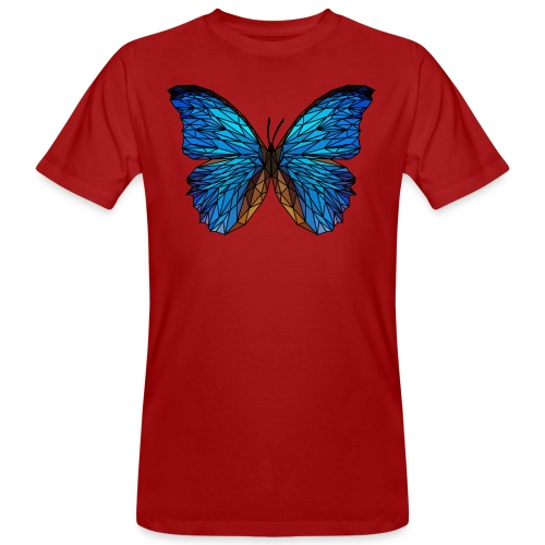 PAPILLON - LOW POLY (Outline) - T-shirt bio Homme