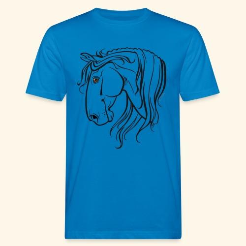 Cheval espagnol (noir) - T-shirt bio Homme