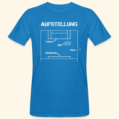 Fussball Aufstellung Weltmeisterschaft Geschenk - Männer Bio-T-Shirt