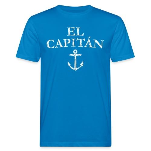 El Capitan Anker (Vintage Weiß) Käpt'n Segeln - Männer Bio-T-Shirt