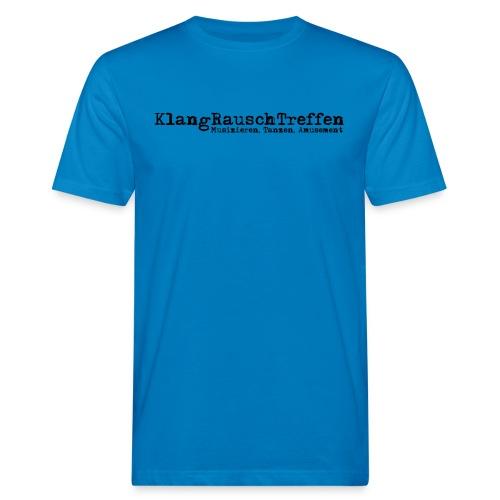 KlangRauschTreffen als Schriftzug - Männer Bio-T-Shirt