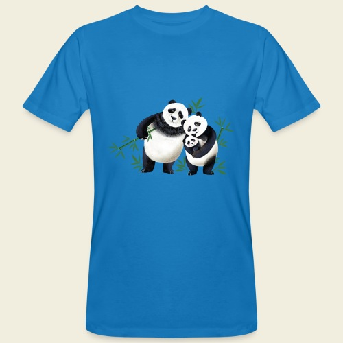 Pandafamilie Baby - Männer Bio-T-Shirt