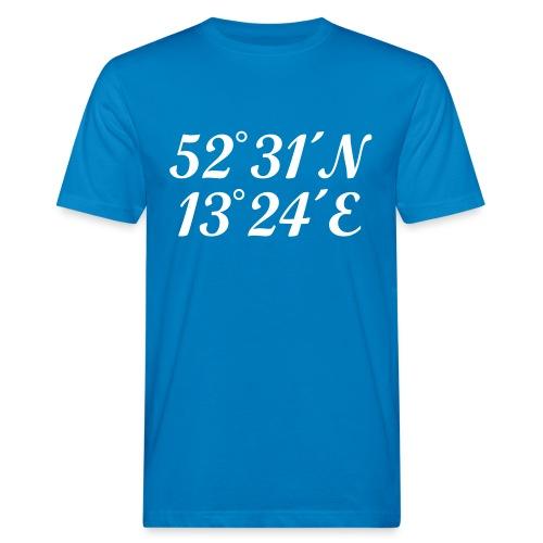 Berlin Koordinaten - Männer Bio-T-Shirt