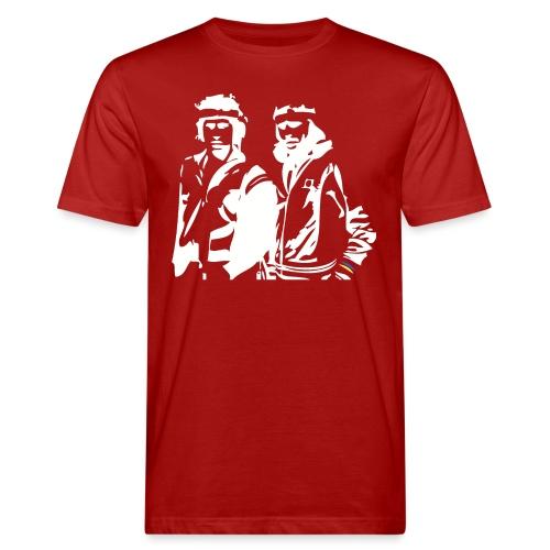 Borg McEnroe Retro Green+White - Miesten luonnonmukainen t-paita